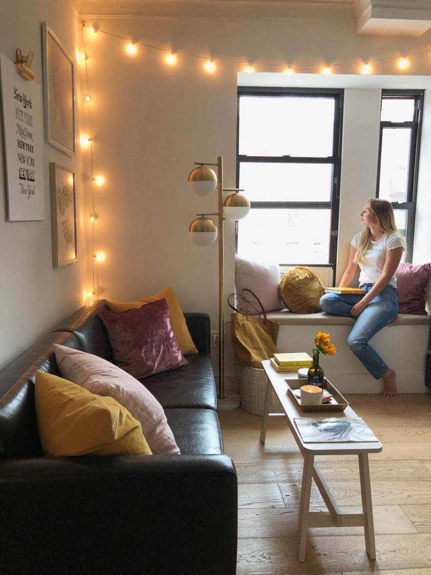 Small space living in New York City  Most Lovely Things - Apartment Design Nyc
