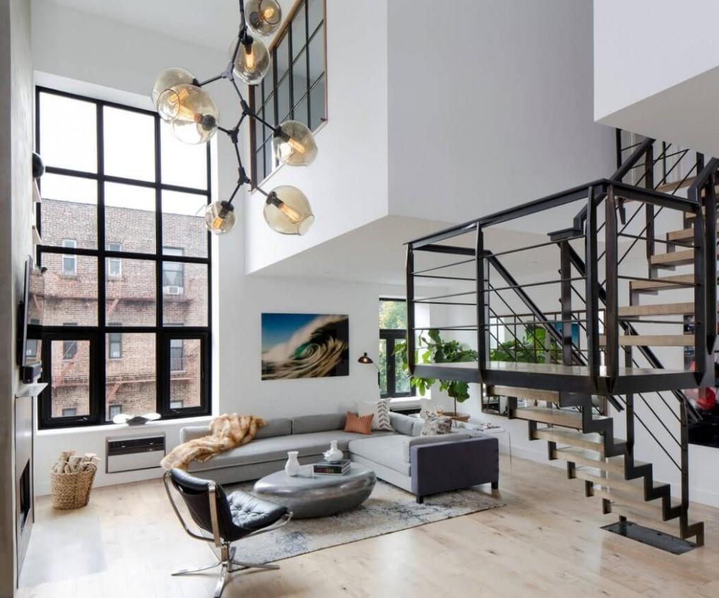 SoHo Duplex by Décor Aid  HomeAdore  Apartment interior  - Apartment Duplex Design