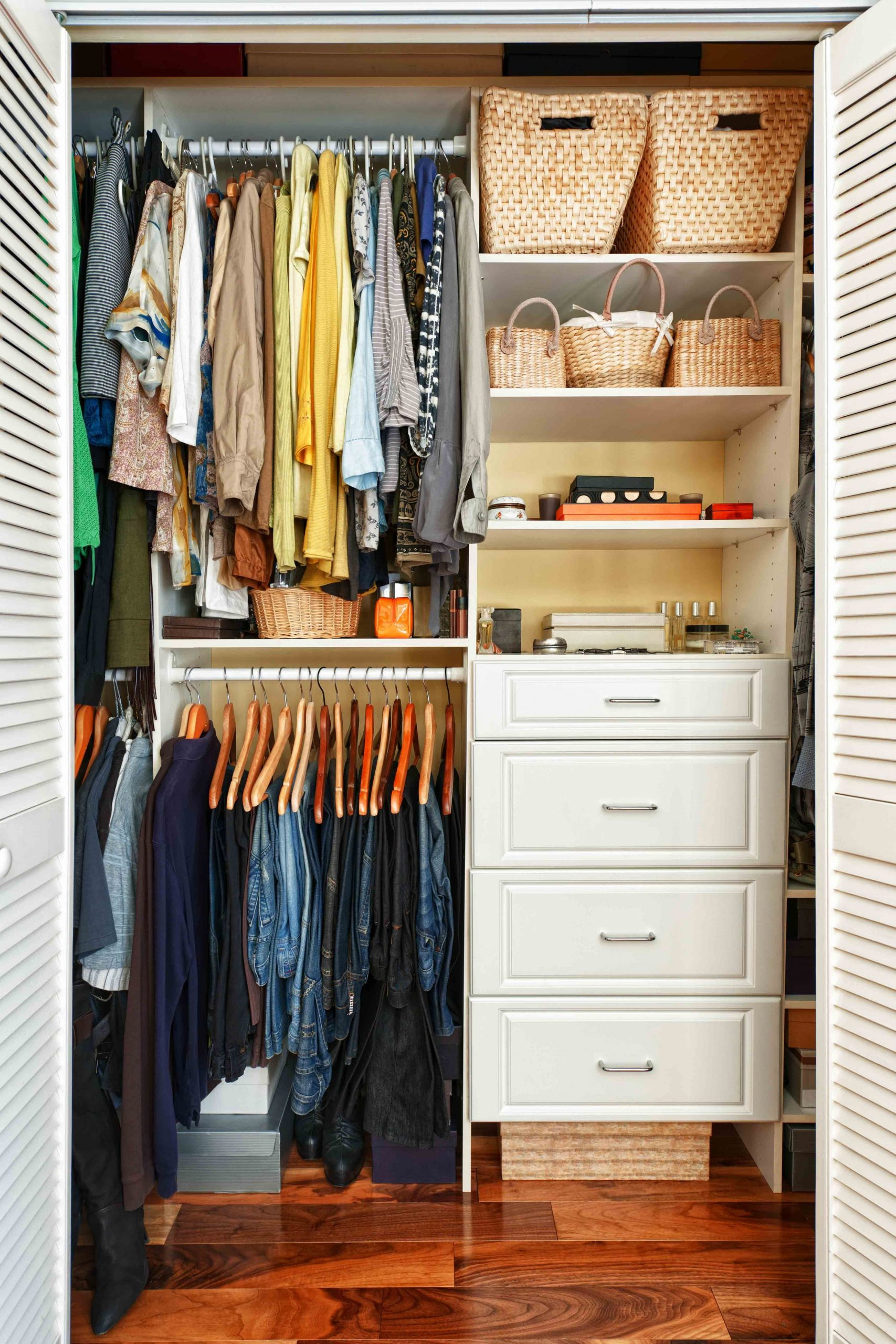 Storage Ideas for Decorating a Model Apartment  Small closet  - Closet Ideas Apartment
