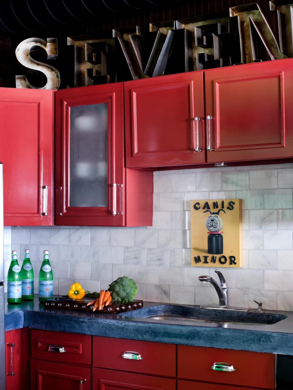Streamlined Kitchen Cabinet Makeover  HGTV - Red Shaker Kitchen Cabinets