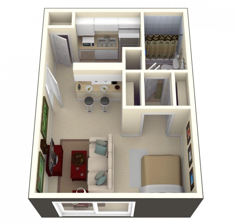 Studio Apartment Floor Plans - Apartment Design Floor Plan