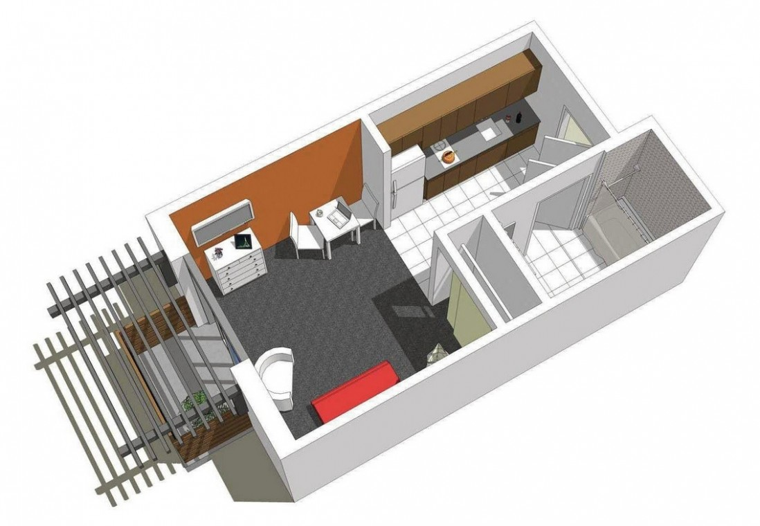 Studio Apartment Floor Plans - Apartment Unit Design