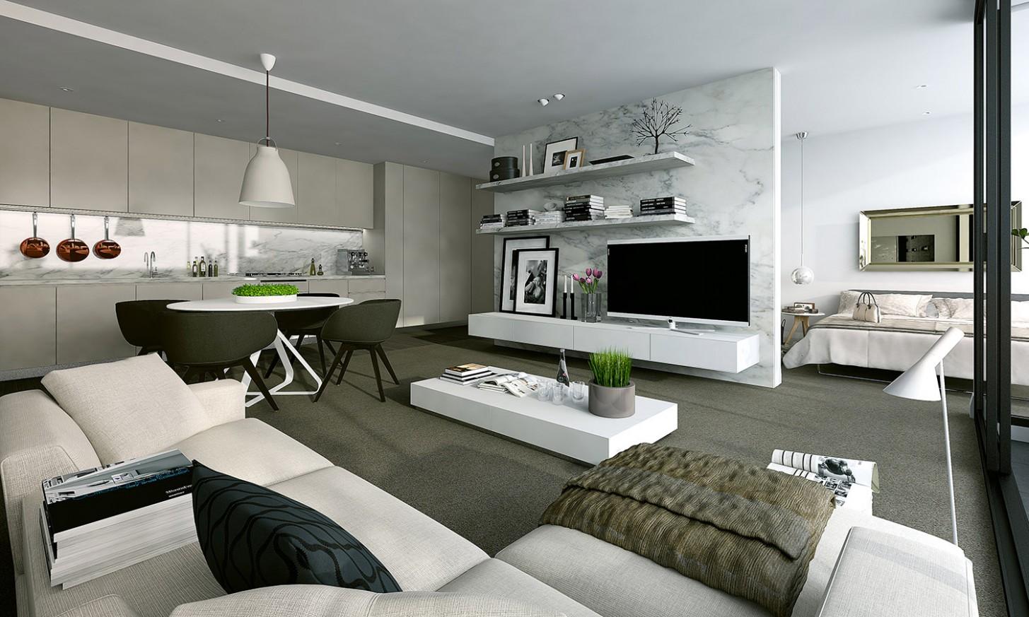 Studio Apartment Interiors Inspiration - Apartment Home Design