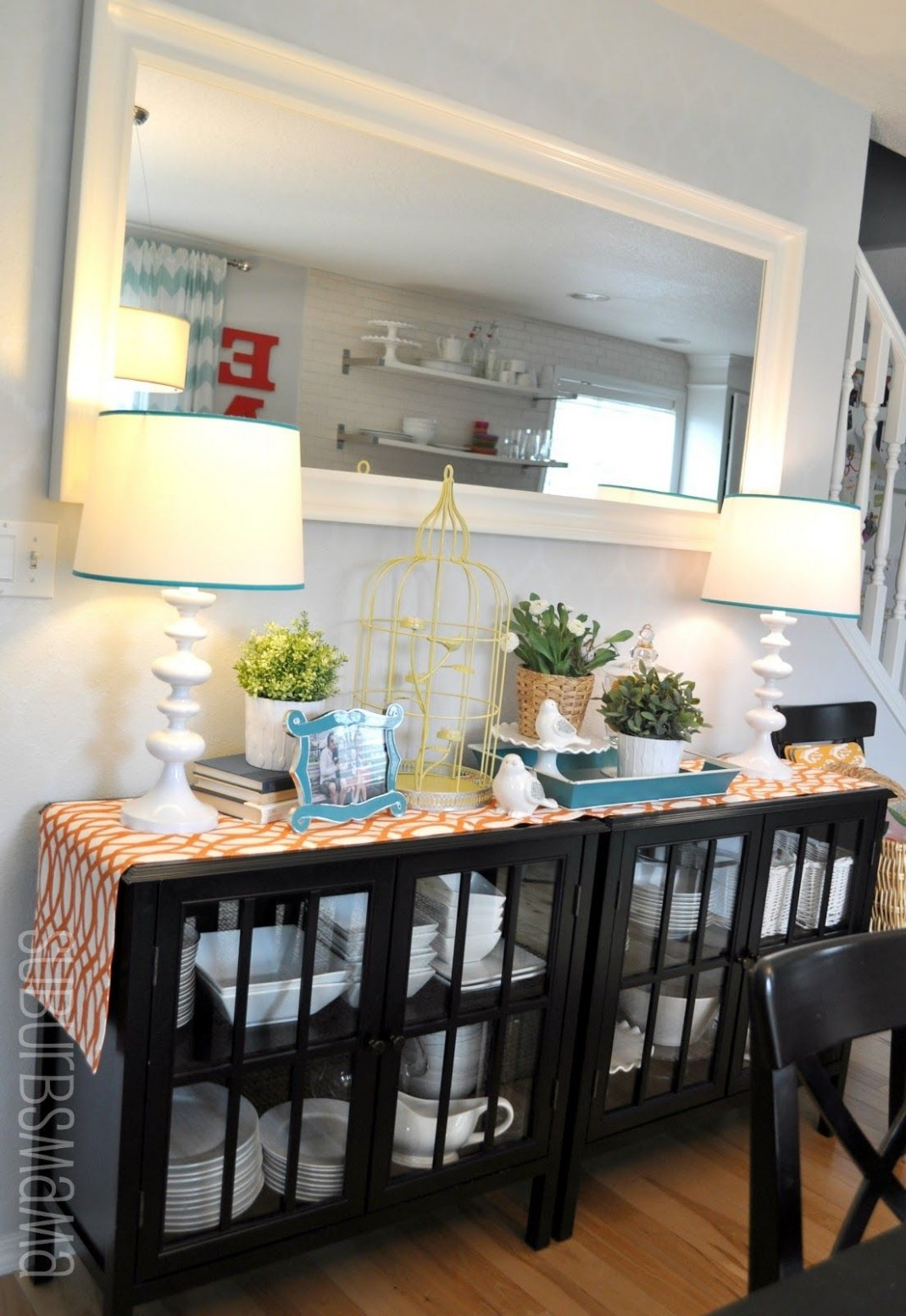 Suburbs Mama: Dining Area (Third times the charm?)  Dining room  - Dining Room Ideas Storage
