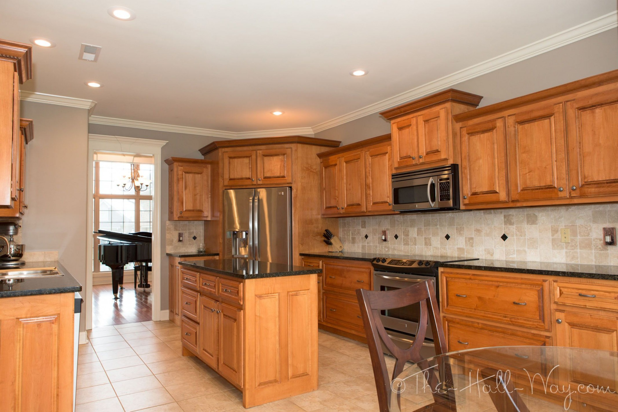 Summer Tour Of Homes  Maple kitchen cabinets, Kitchen renovation  - Maple Kitchen Cabinets And Taupe Walls