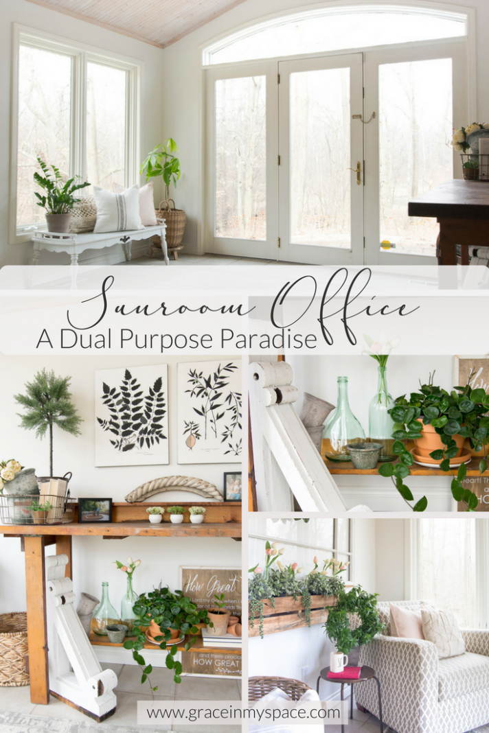 Sunroom Office Inspiration: A Dual Purpose Paradise  Grace In My  - Sunroom Office Ideas