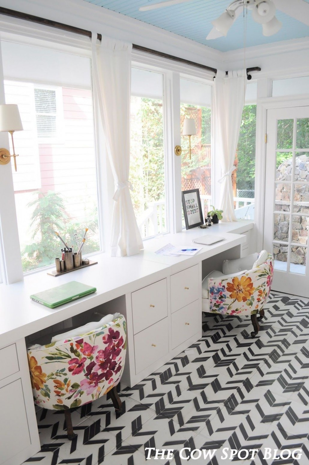 Sunroom Turned Home Office Reveal  Home office decor, Home office  - Sunroom Office Ideas