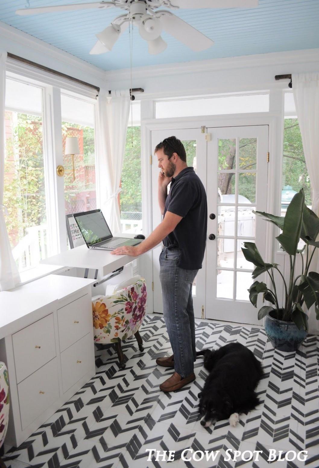 Sunroom Turned Home Office Reveal  Sunroom office, Small sunroom  - Sunroom Ideas For Office