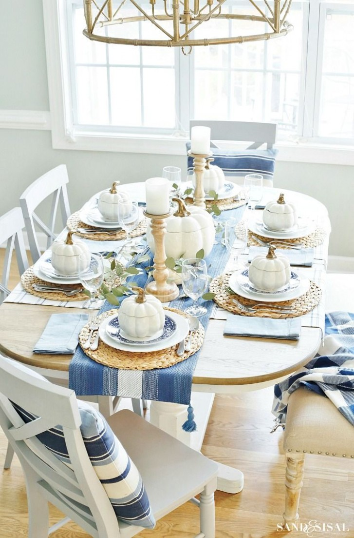 Thanksgiving Table Ideas - 11+ Table Settings for Thanksgiving - Dining Room Ideas Tablecloth