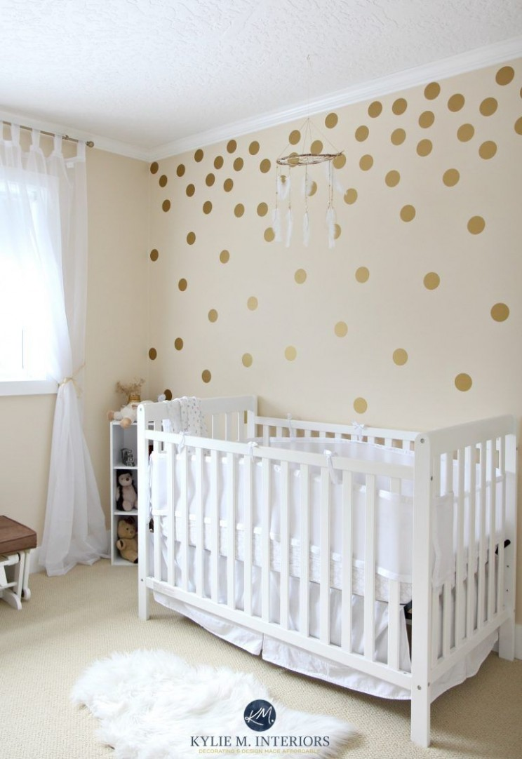 The 8 Best Cream Paint Colours: Benjamin Moore  Baby room wall  - Baby Room Colours