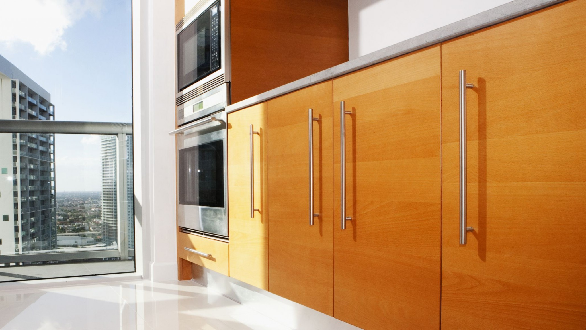 The Basics of Slab Cabinet Doors - Birch Kitchen Cabinet Doors