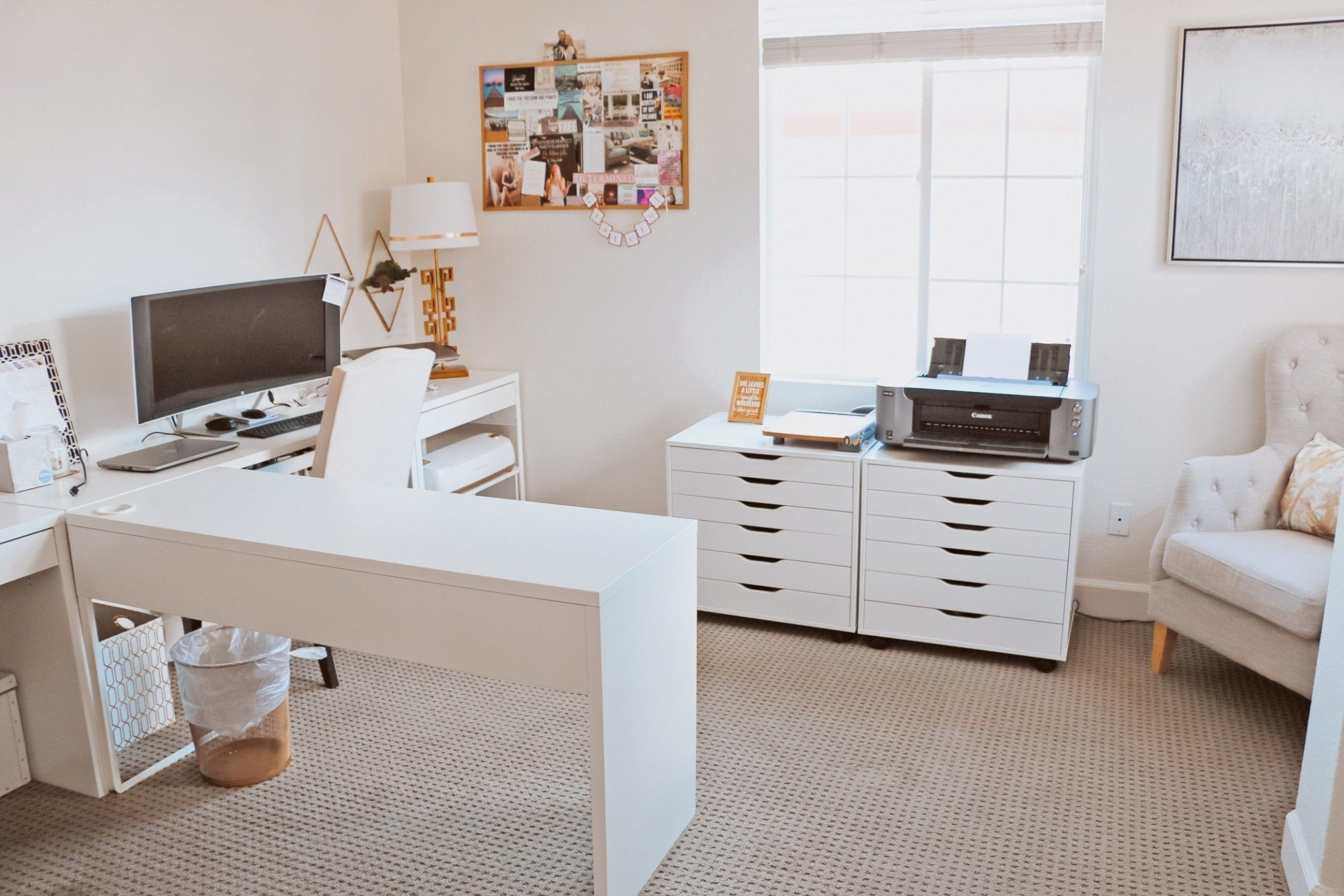 The Best Cricut Setup For Your Office  Ikea home office, Office  - Home Office Organization Ideas Ikea