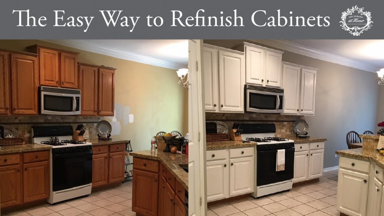 The Easy Way to Refinish Kitchen Cabinets - How To Finish Kitchen Cabinets
