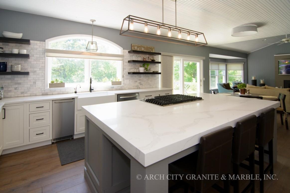 The Most Popular Quartz Countertop Colors in 11 - White Kitchen Cabinets And Quartz Countertops