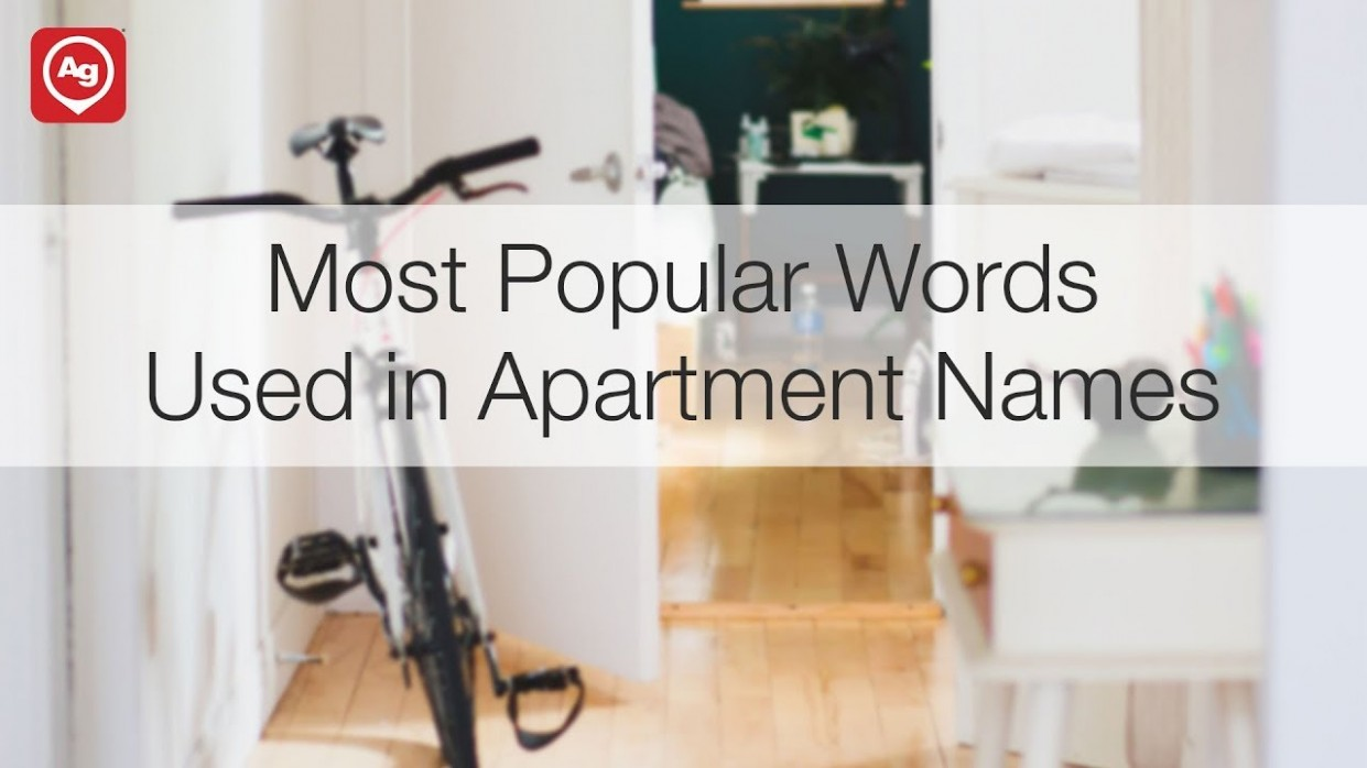 The Most Popular Words in Apartment Names  ApartmentGuide
