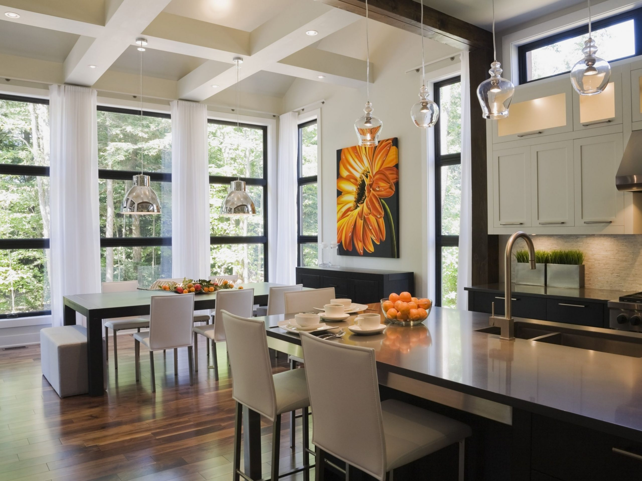 The Open Floor Plan: History, Pros and Cons - Dining Room Open To Kitchen Ideas
