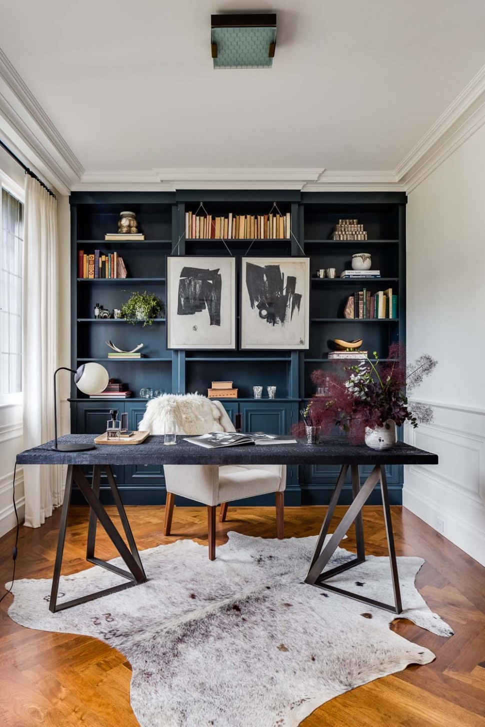 The Pinteresting 10: Small Home Office Ideas - Home Office Library Ideas