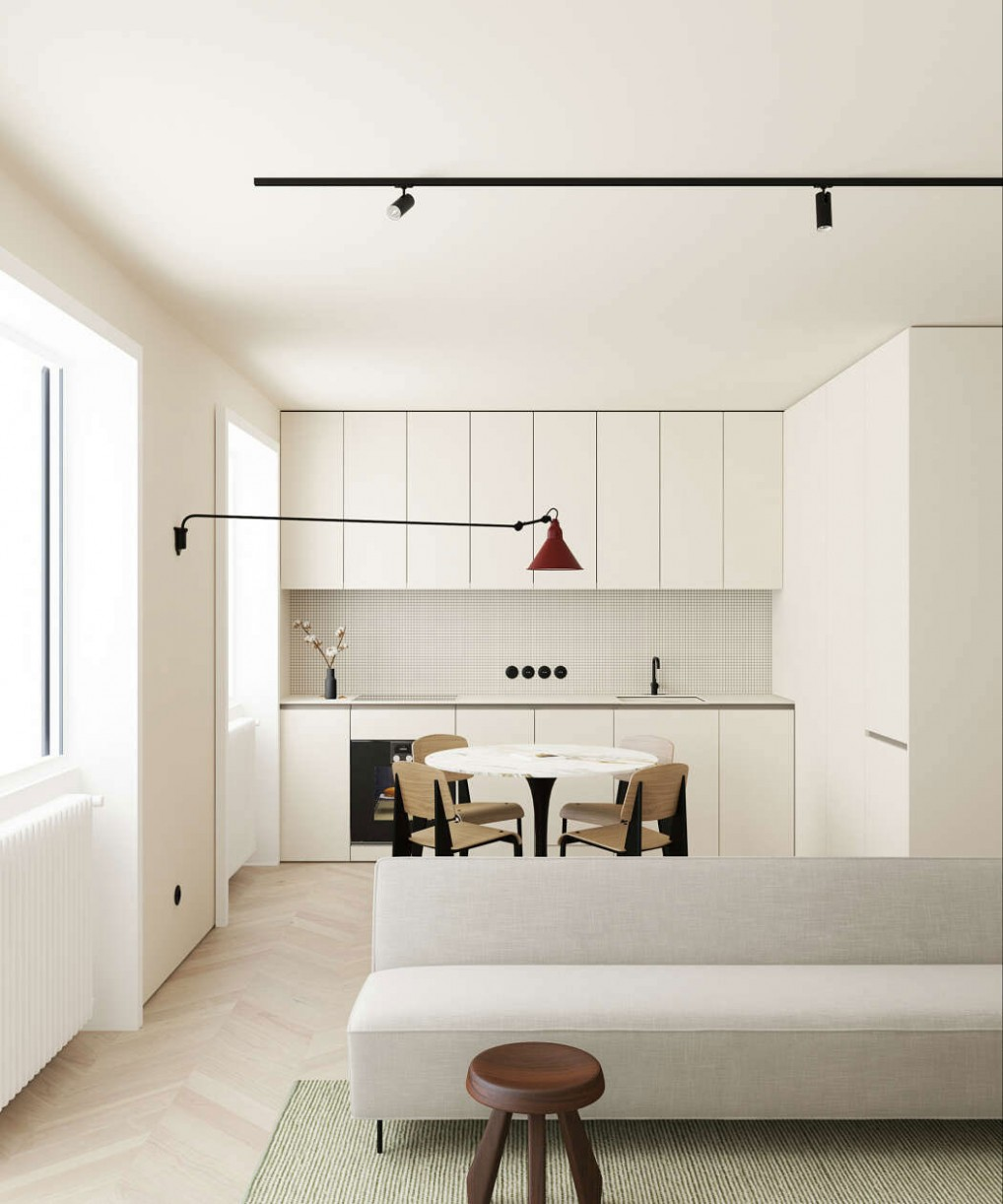 This Modern Scandinavian-Style Apartment is a Lesson in Warm  - Apartment Design Minimalist