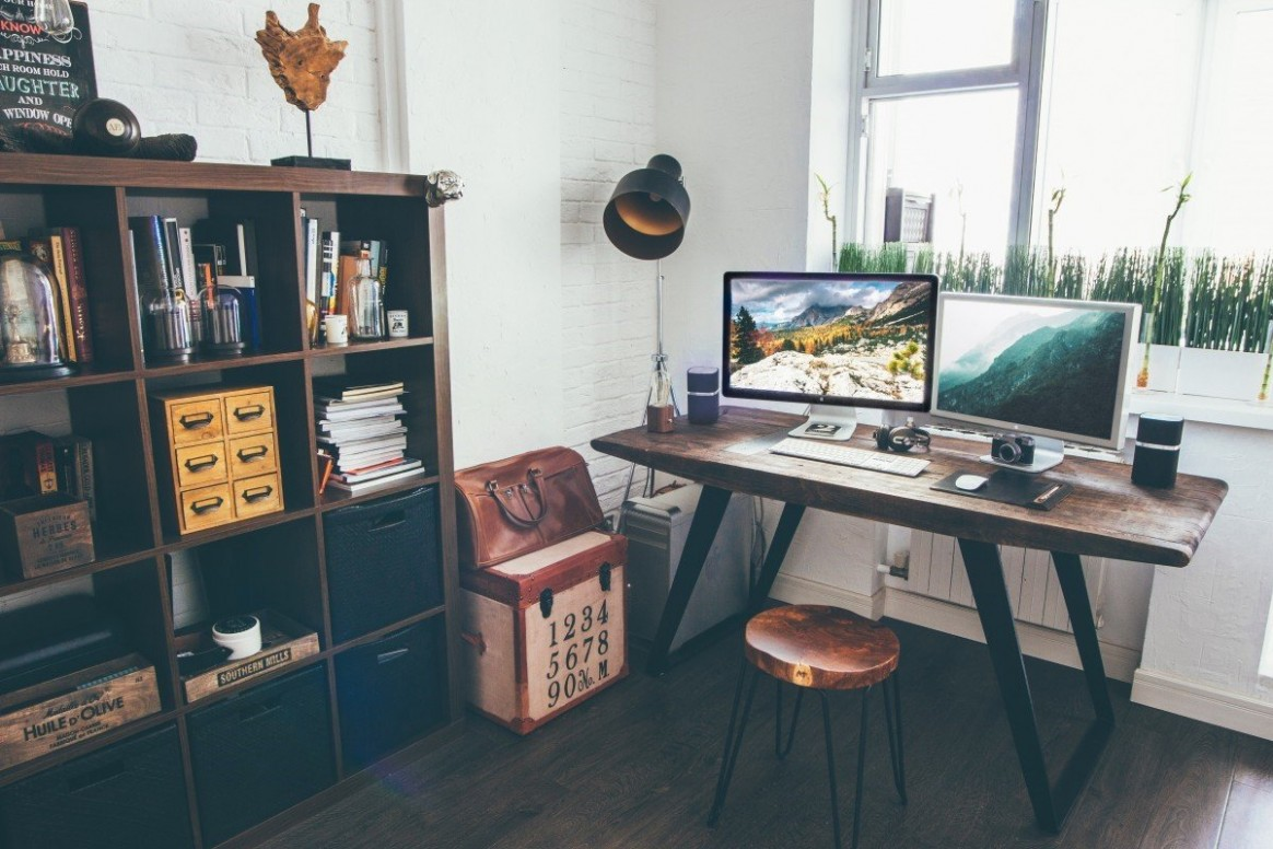 Tips For Creating a Home Office in a Small Space  West Coast Self  - Home Office Ideas For Small Rooms