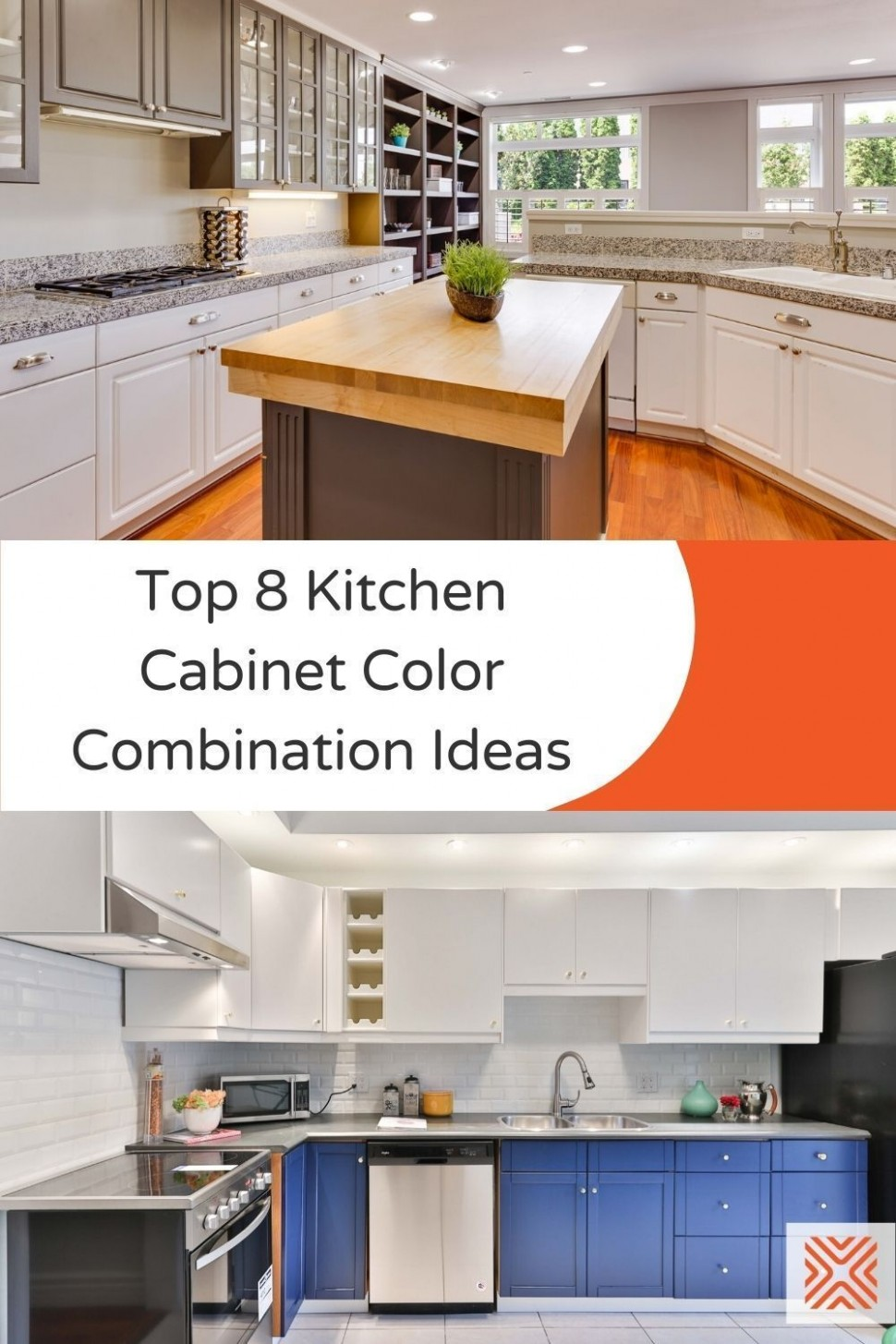 Top Eight Kitchen Cabinet Color Combinations to Choose from in  - Choosing Kitchen Cabinet Color