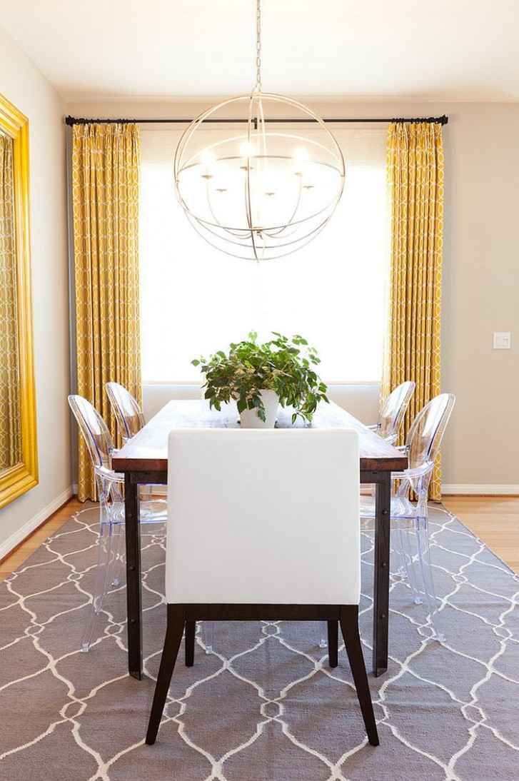 Trendy Color Duo: 9 Dining Rooms That Serve up Gray and Yellow - Light Yellow Dining Room Ideas
