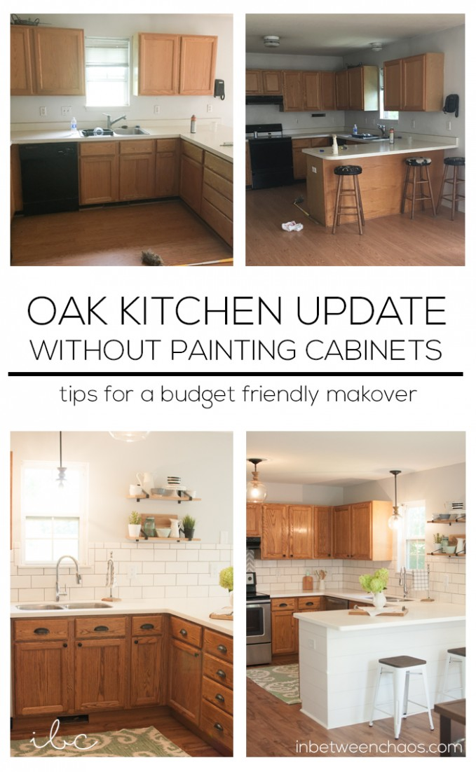 Updating a 11s kitchen – WITHOUT Painting Cabinets! - How To Make Wood Kitchen Cabinets Look Better