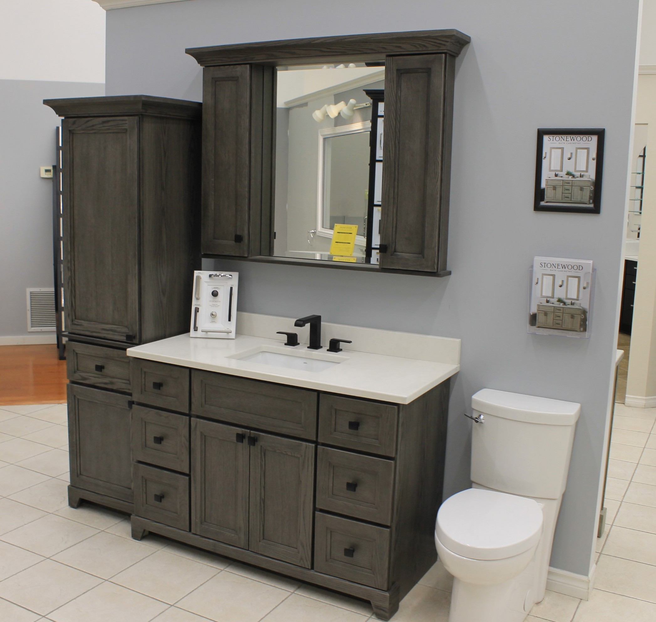 "Urban Oak 9"" Vanity Ensemble - Naylor Kitchen Cabinet"