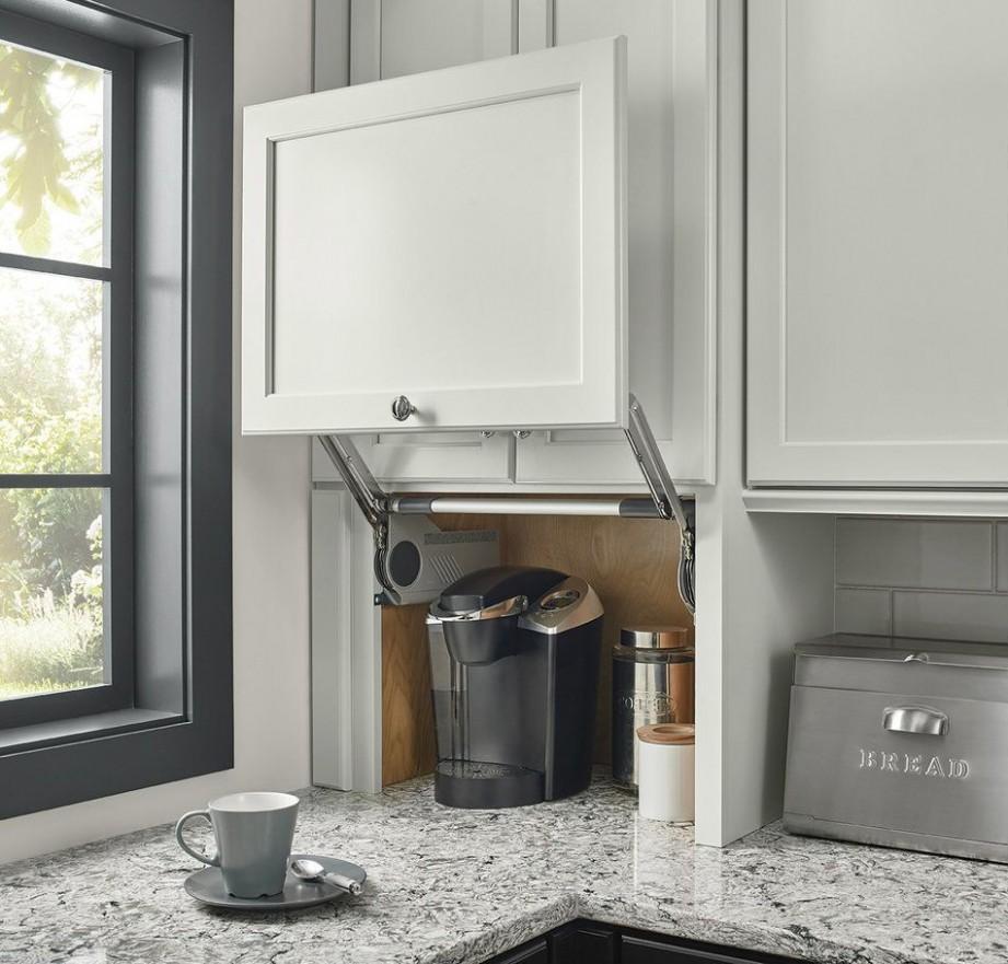 """Wall Appliance Garage 8""""  Kitchen innovation, Kitchen cabinet  - Corner Kitchen Cabinet Appliance Garage"""
