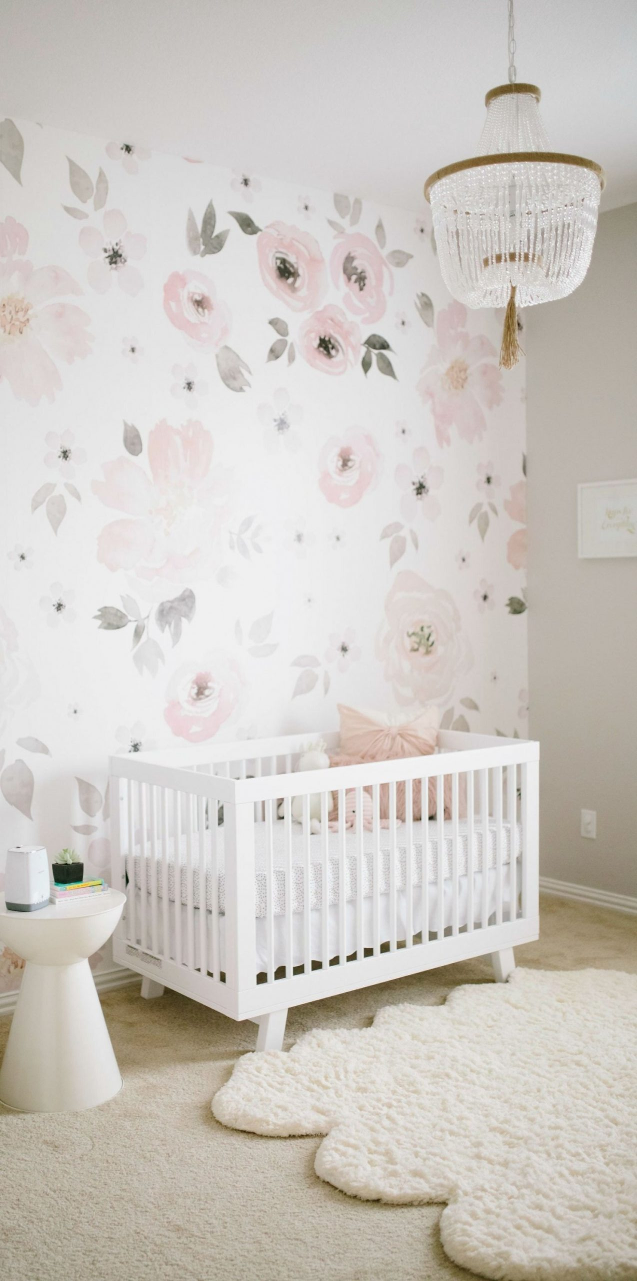 Watercolor Floral, A Match Made in Nursery Heaven - Project  - Baby Room Wallpaper Ideas