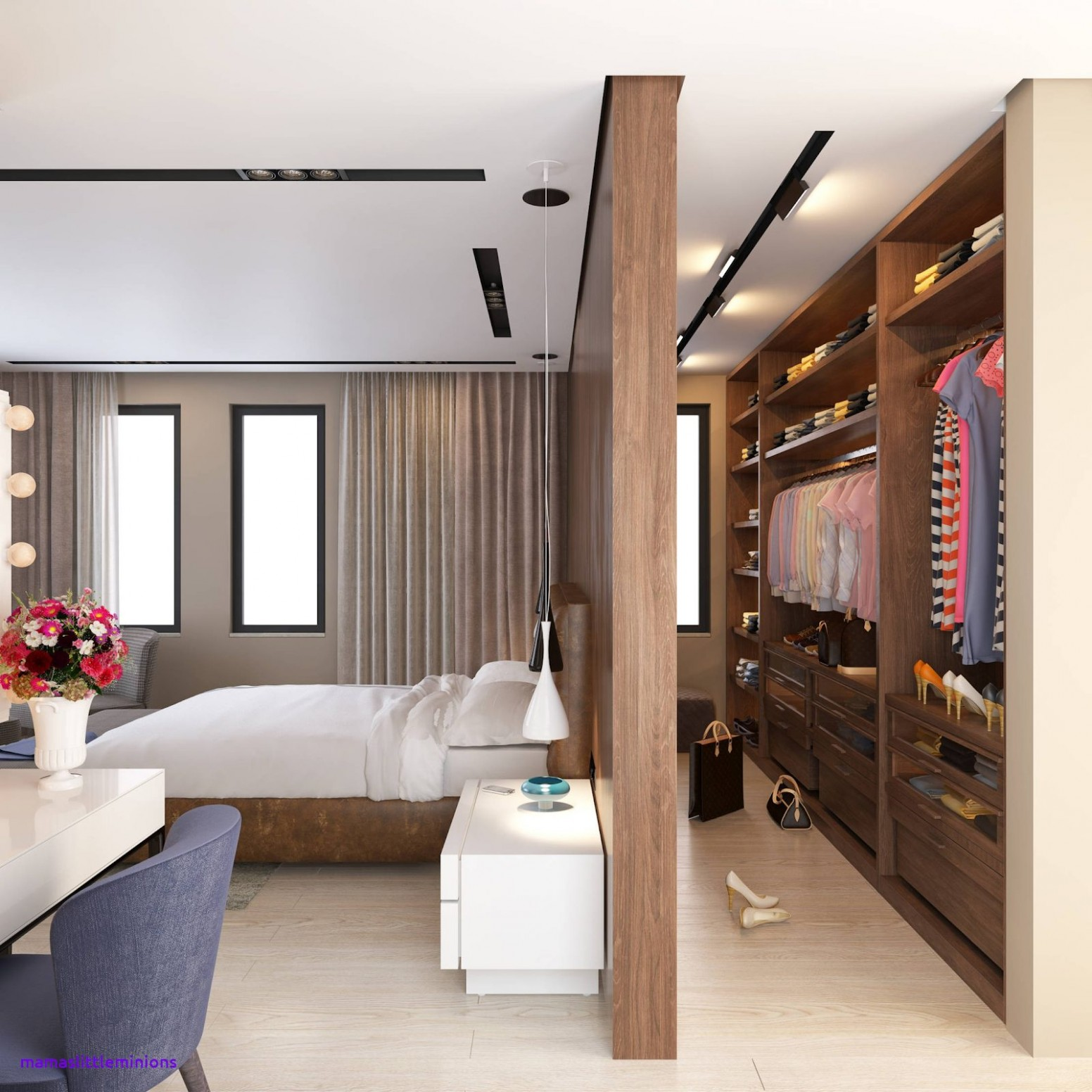 Ways to incorporate walk-in wardrobes in small bedroom  Recommend
