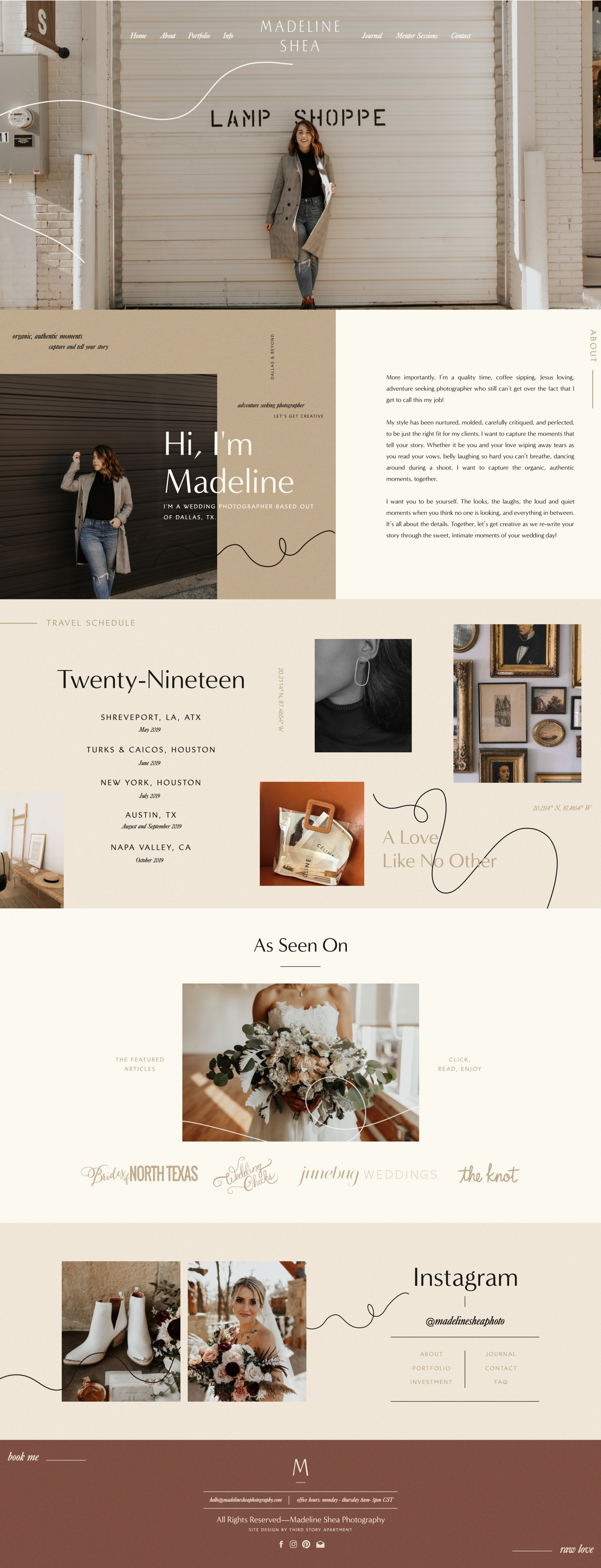 WEBSITE DESIGN by Lindsey Eryn of Third Story Apartment in 8  - Apartment Website Design Inspiration