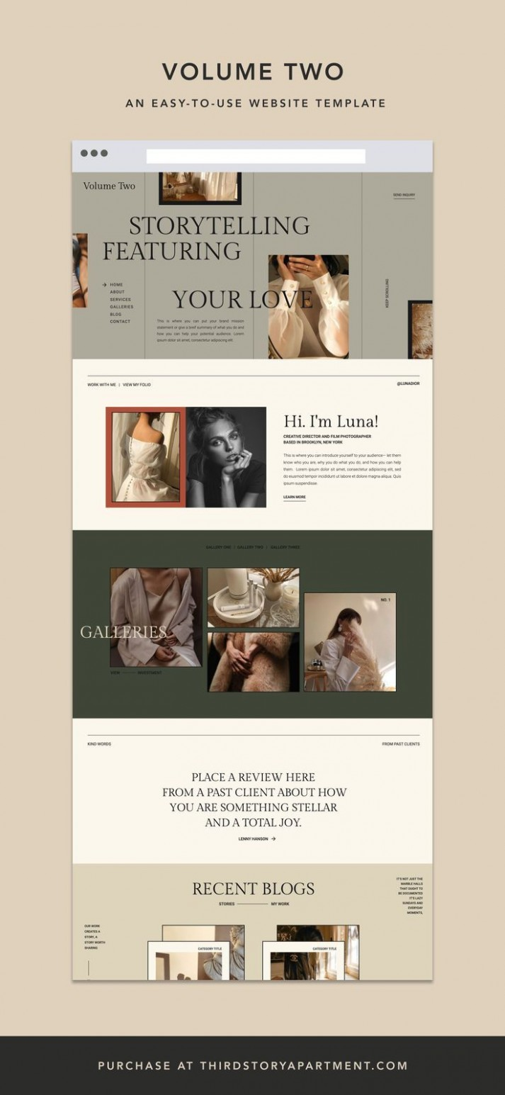 WEBSITE TEMPLATE— by Lindsey Eryn of Third Story Apartment in 8  - Apartment Website Design Inspiration