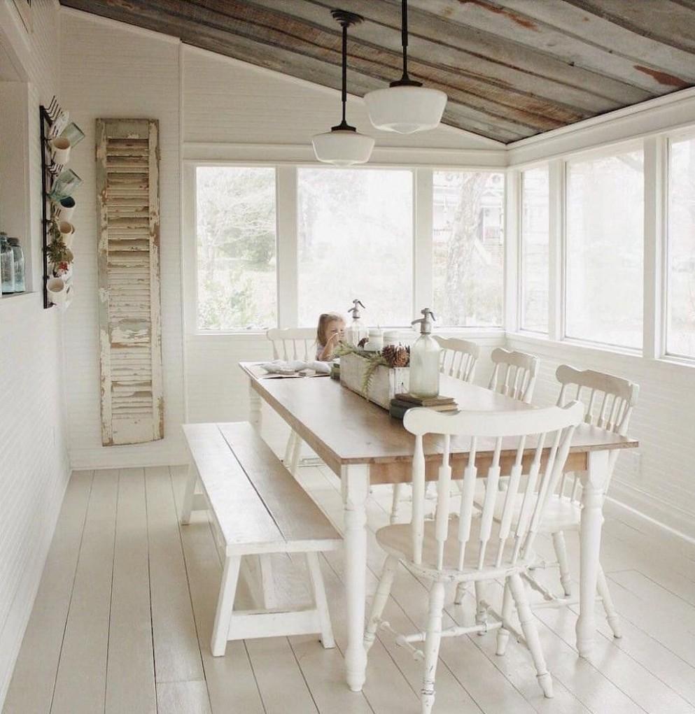 Weird addition room  Sunroom dining, Sunroom decorating  - Sunroom Dining Room Ideas