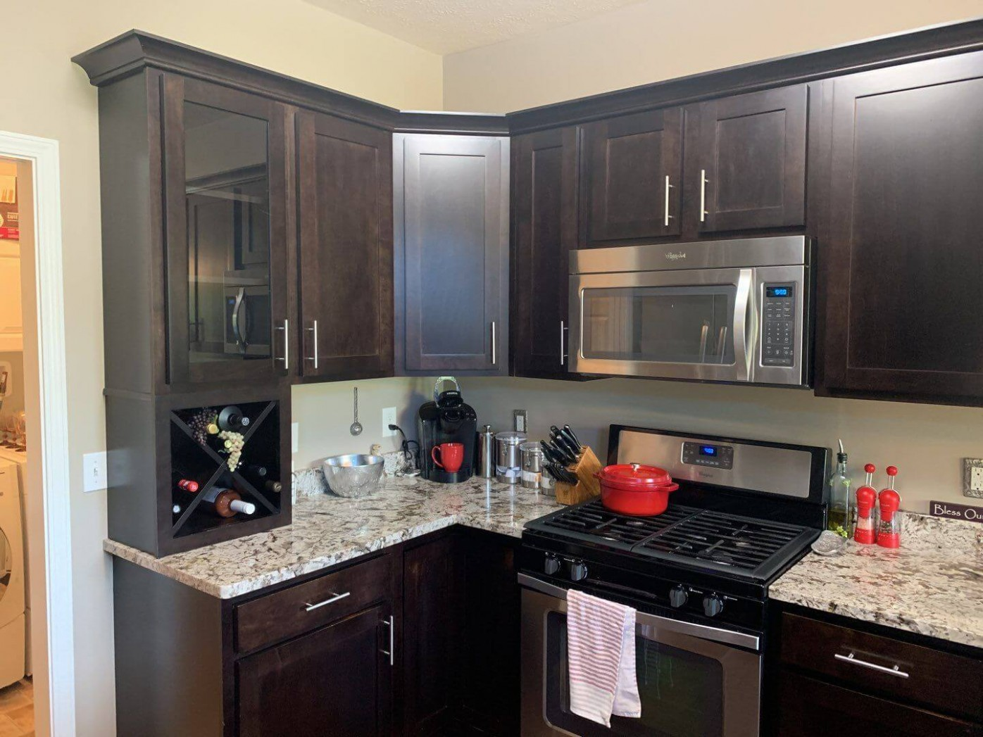 What Color Should I Paint My Kitchen Cabinets?  Textbook Painting - Brown Colored Kitchen Cabinets