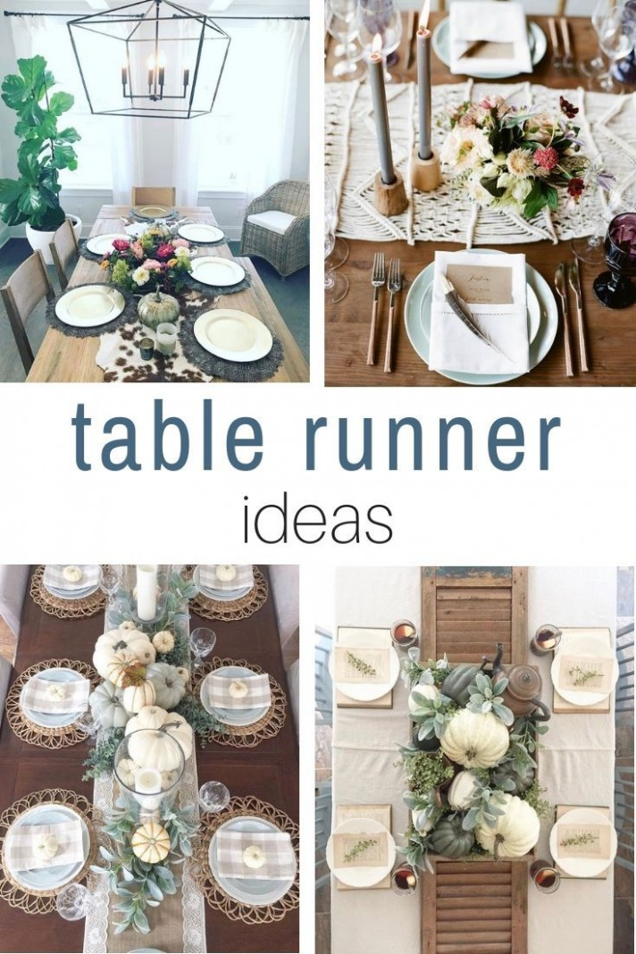 When A Fall Table Runner Is Stunning  Farmhouse table runners  - Dining Room Runner Ideas