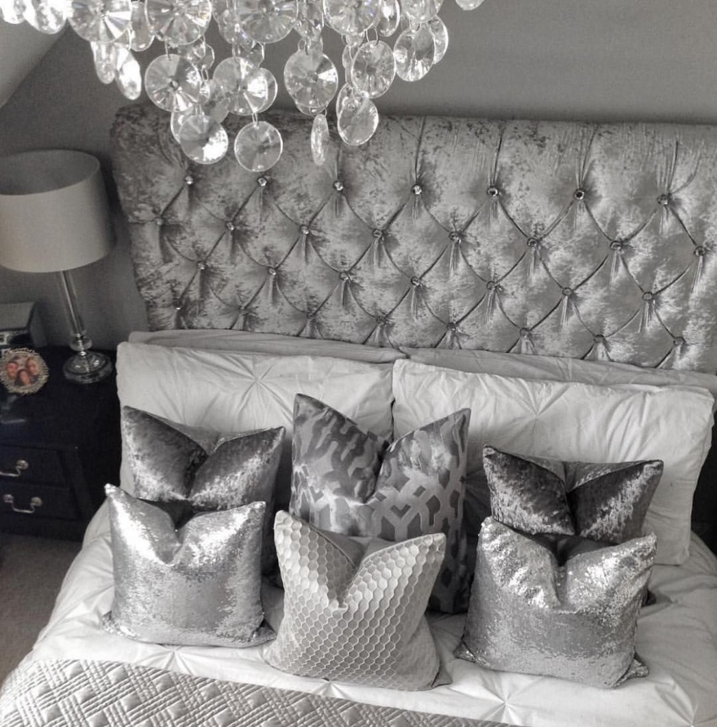White and Silver Bedroom Decor Ideas - Home Decor Bliss  White  - Bedroom Ideas Silver