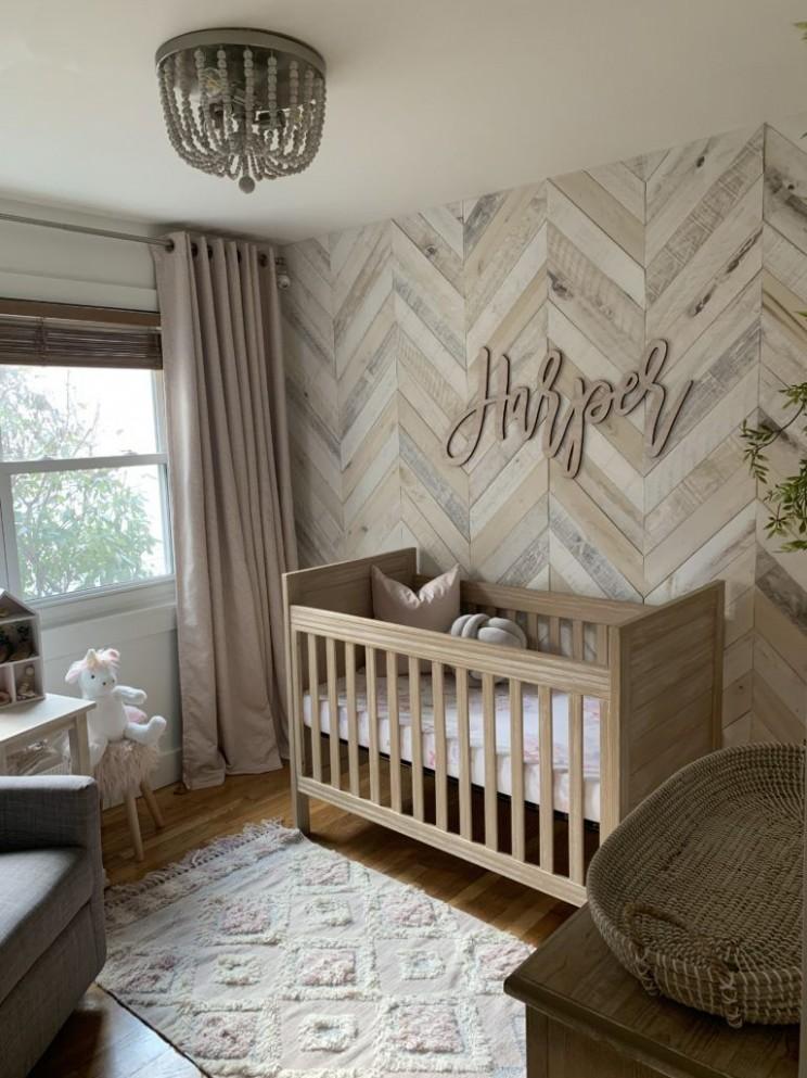 White Washed Wood Nursery - Project Nursery  Nursery baby room  - Baby Room Wall Ideas