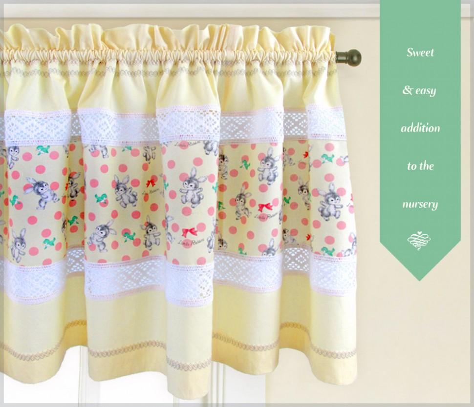 Window Valance Panels - Sew12Home - Baby Room Valances