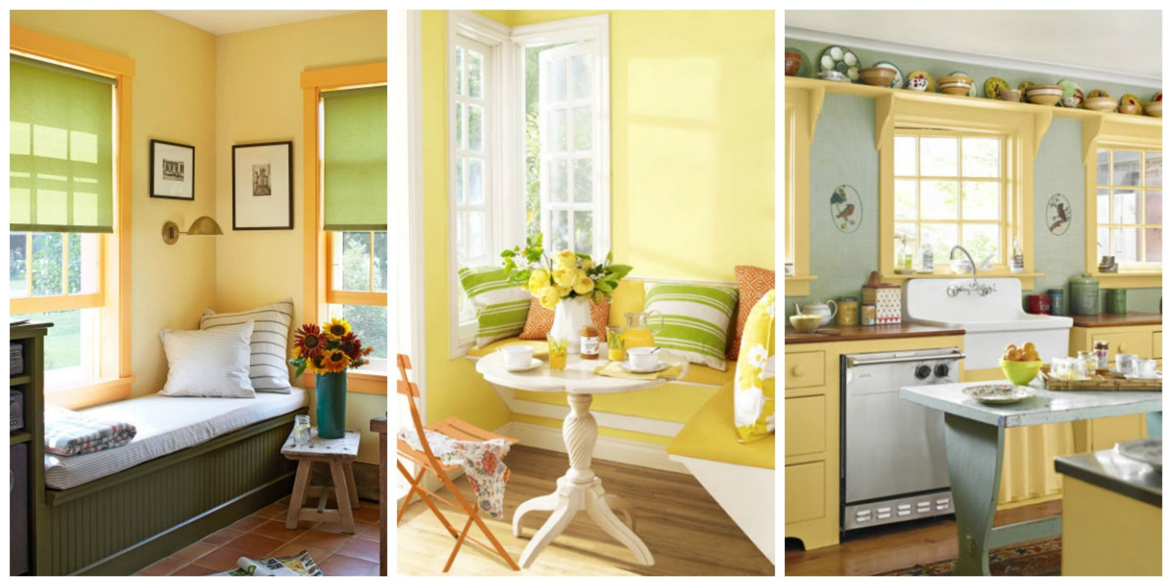 Yellow Decor - Decorating with Yellow - Light Yellow Dining Room Ideas