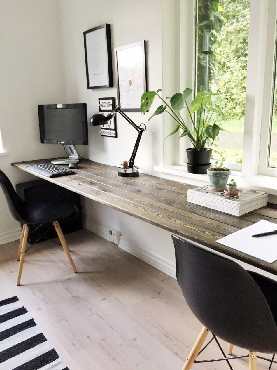 10 Beautiful Home Desk Ideas Make Comfortable (for Cozy Study  - Home Office Table Ideas