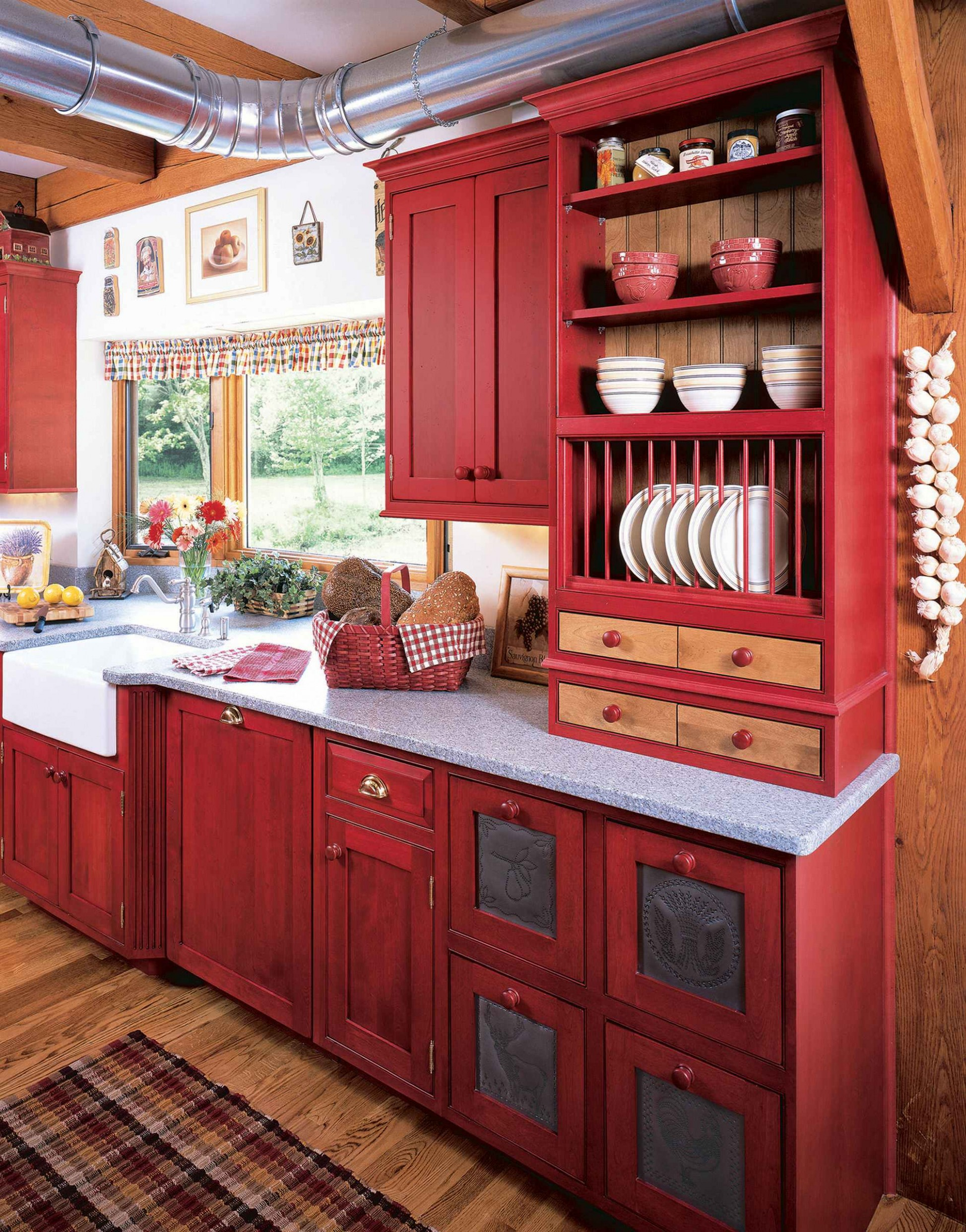 10 Beautiful Kitchen With Red Cabinets Pictures & Ideas - November  - Red Bank Kitchen Cabinets