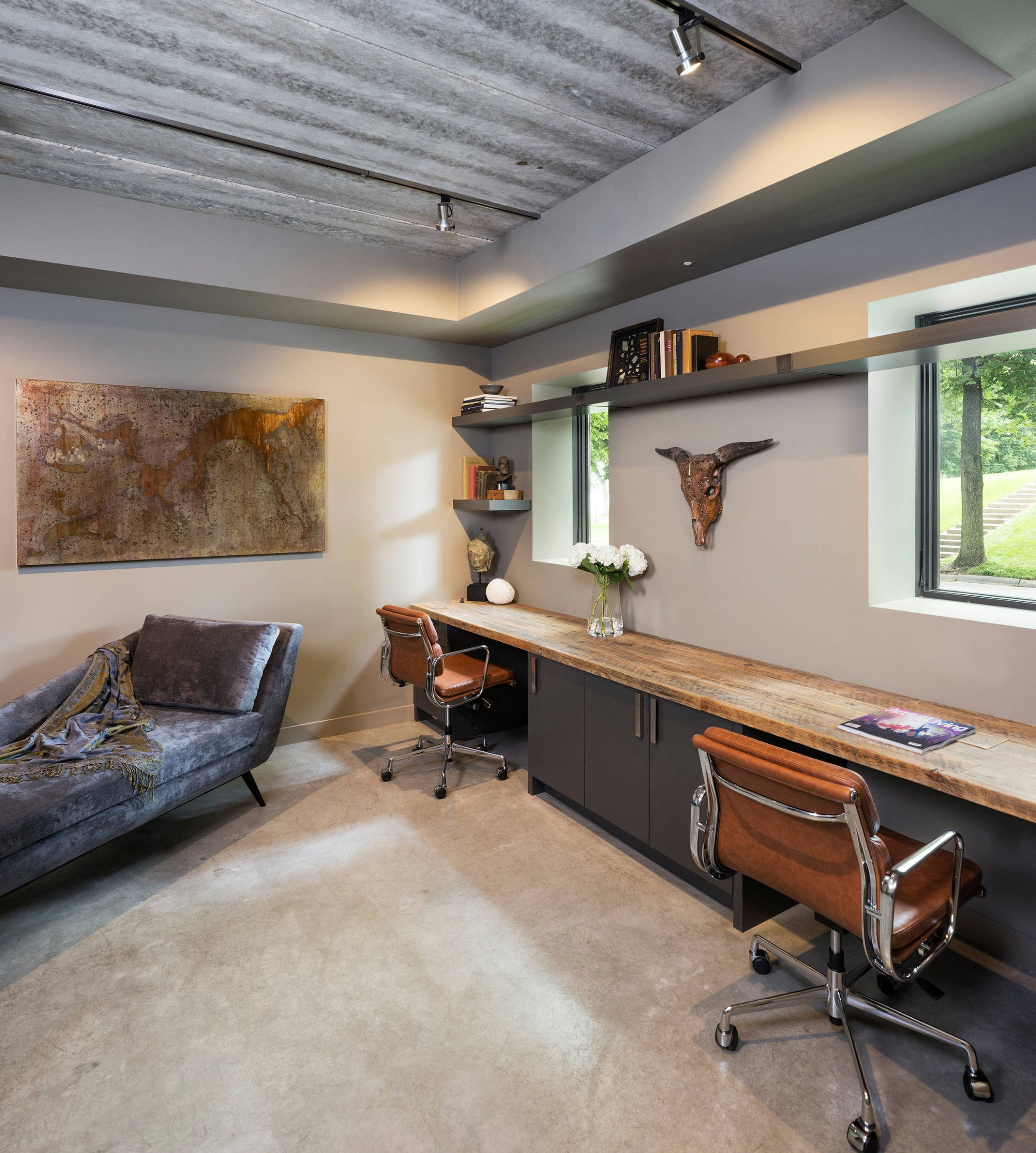 10 Beautiful Modern Home Office Design Ideas & Pictures  Houzz - Home Office Ideas Contemporary