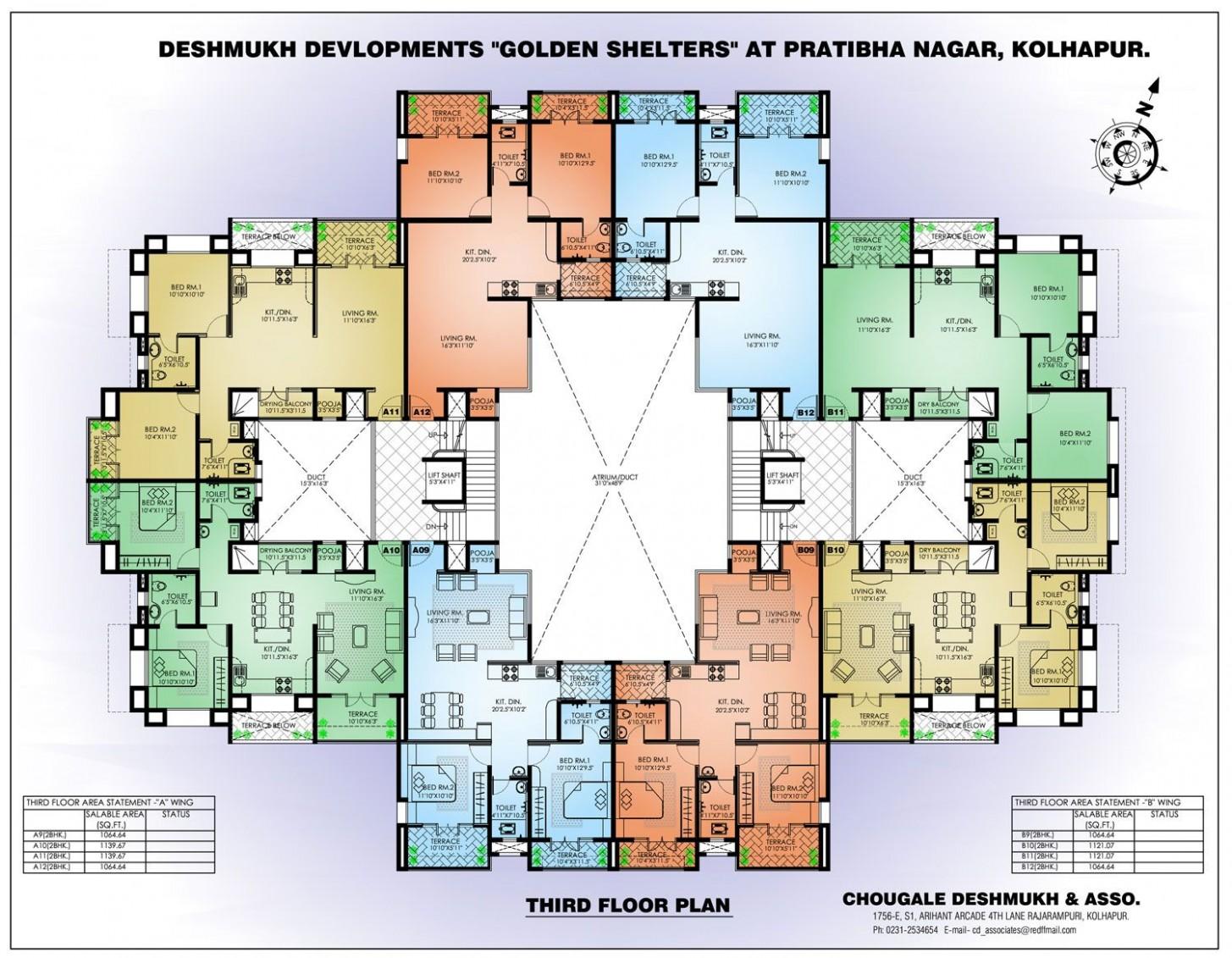 10 Bedroom Apartment Floor Plans Apartment Building Floor in 10  - Apartment Architecture Design Plans