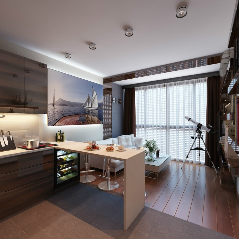 10 Distinctly Themed Apartments Under 10 Square Feet with Floor plans - Apartment Design For 800 Sq Ft
