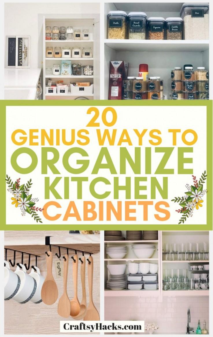 10 Genius Ways to Organize Kitchen Cabinets - Craftsy Hacks - Help Me Organize My Kitchen Cabinets