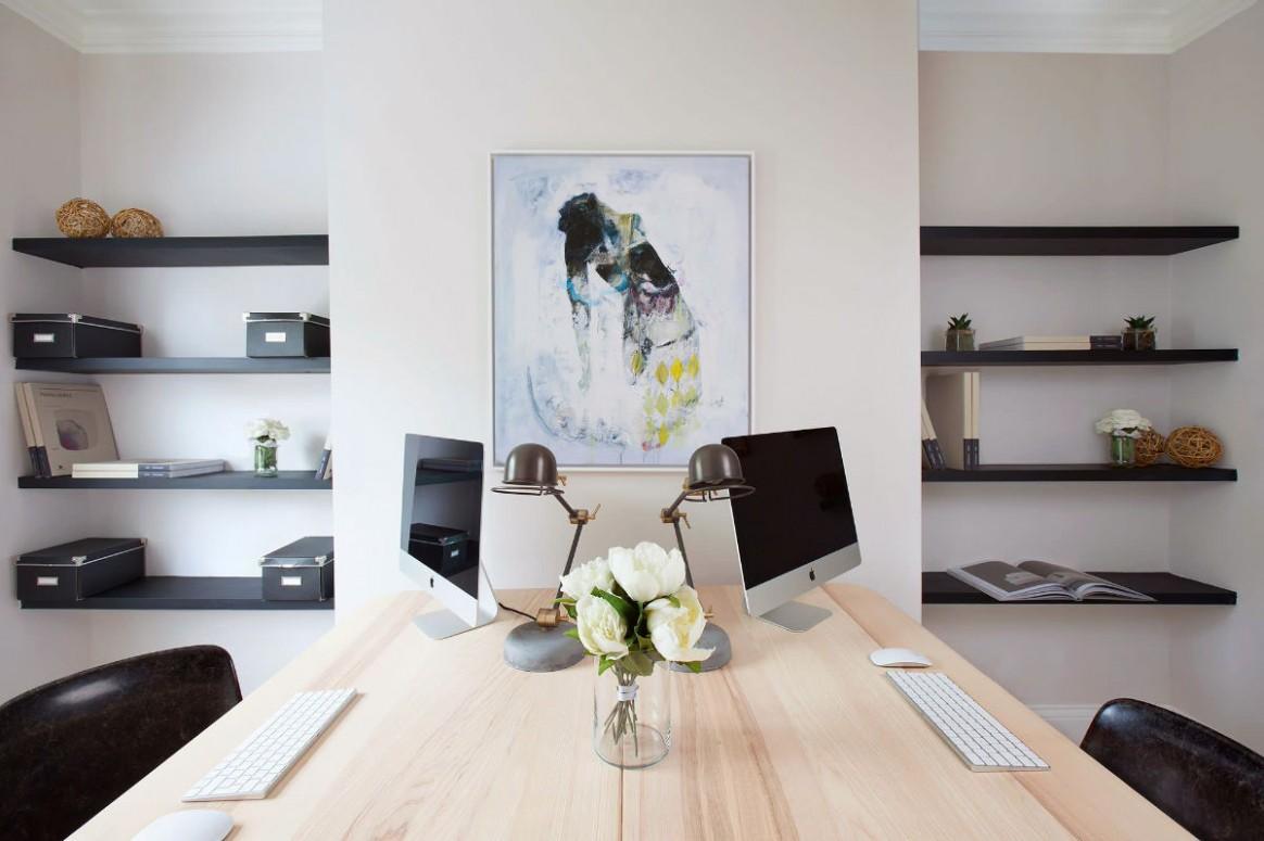10 Inspirational Home Office Workspaces That Feature 10 Person Desks - Home Office Ideas Two Desks