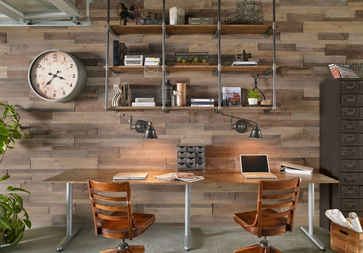 10 Inspiring Industrial Style Home Offices That Sport Beautiful  - Home Office Ideas Rustic