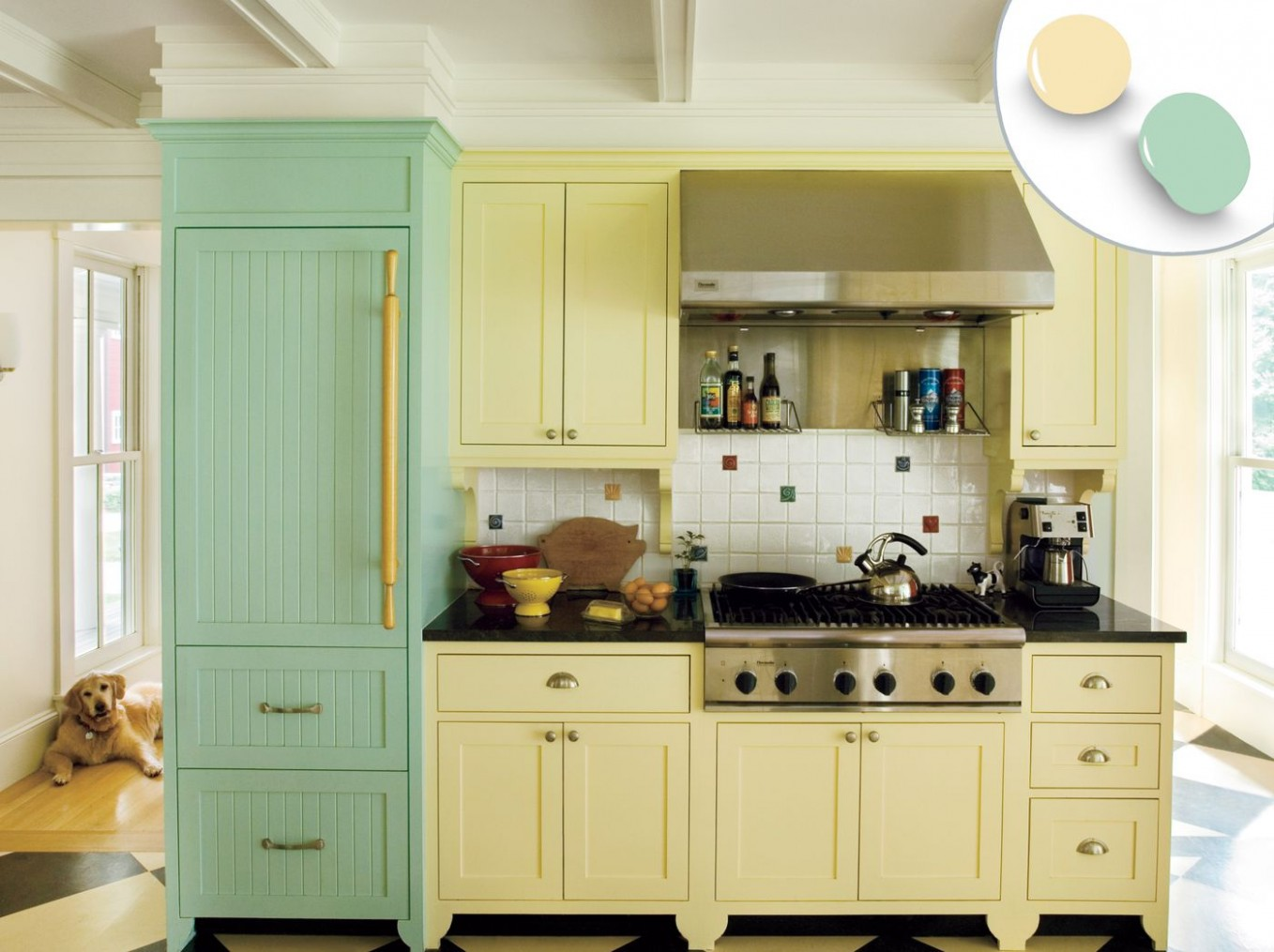 10 Kitchen Cabinet Color Ideas: Two-Tone Combinations - This Old House - Red Bank Kitchen Cabinets