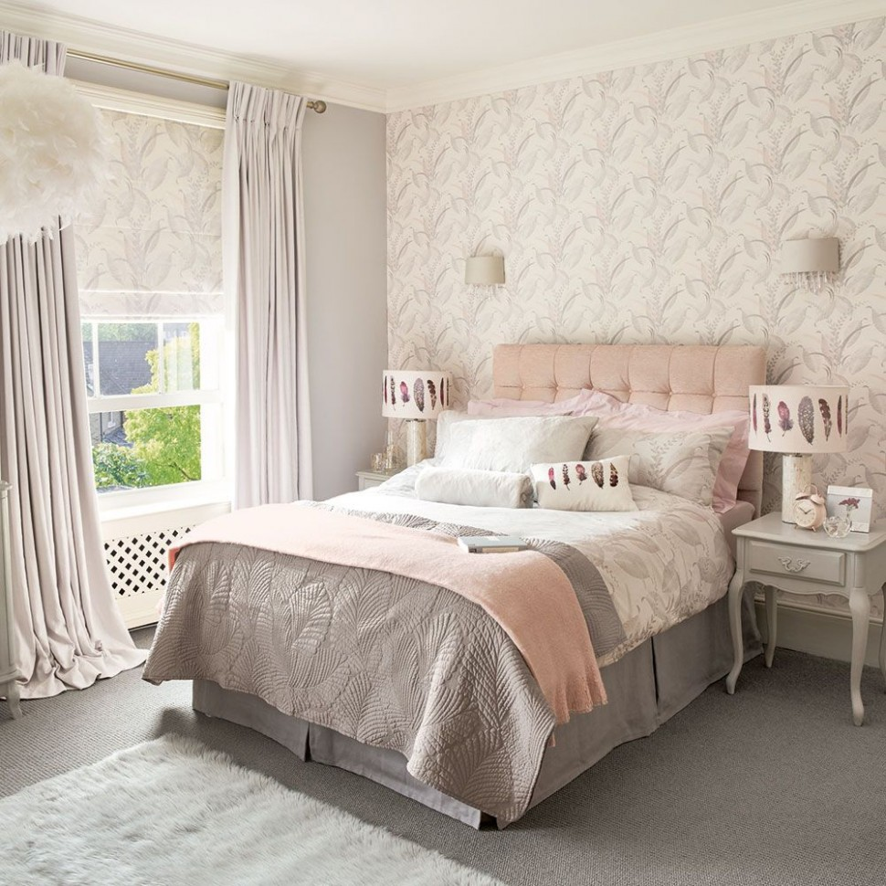 10 pink and grey bedroom ideas - pink and grey bedroom colour decor - Bedroom Ideas Grey And Pink