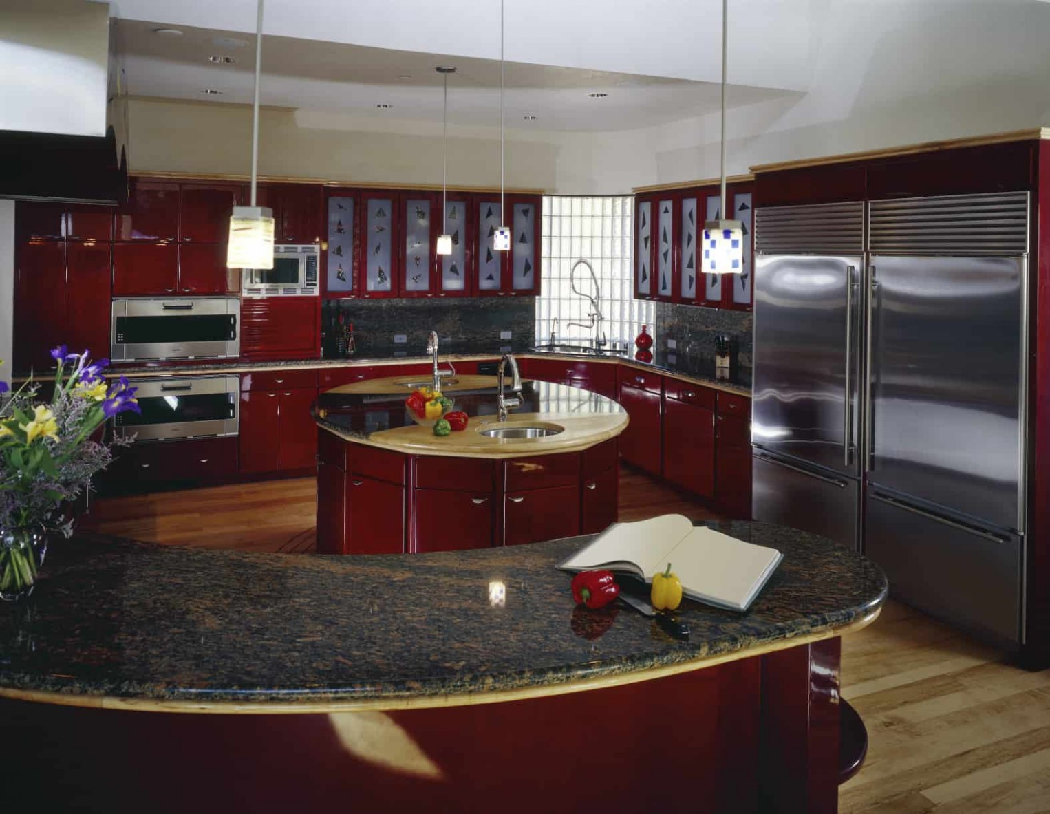 10 Red Kitchen Ideas with Red Cabinets (10 Photos) - Red Kitchen Walls With Dark Cabinets